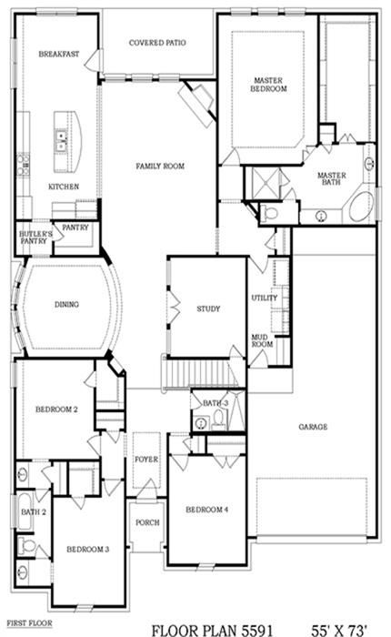 Lennar Homes Texas Reserve Collection Jade Floor Plan First Floor