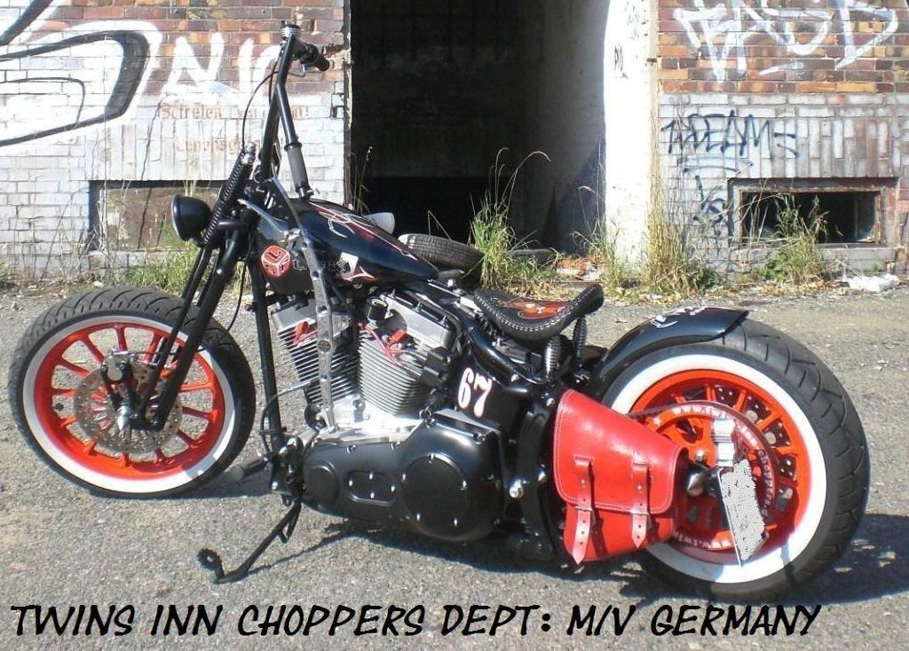 Harley Davidson Old School Bobber Springer Umbau TWIN CAM Softail BSL Bonanza | eBay
