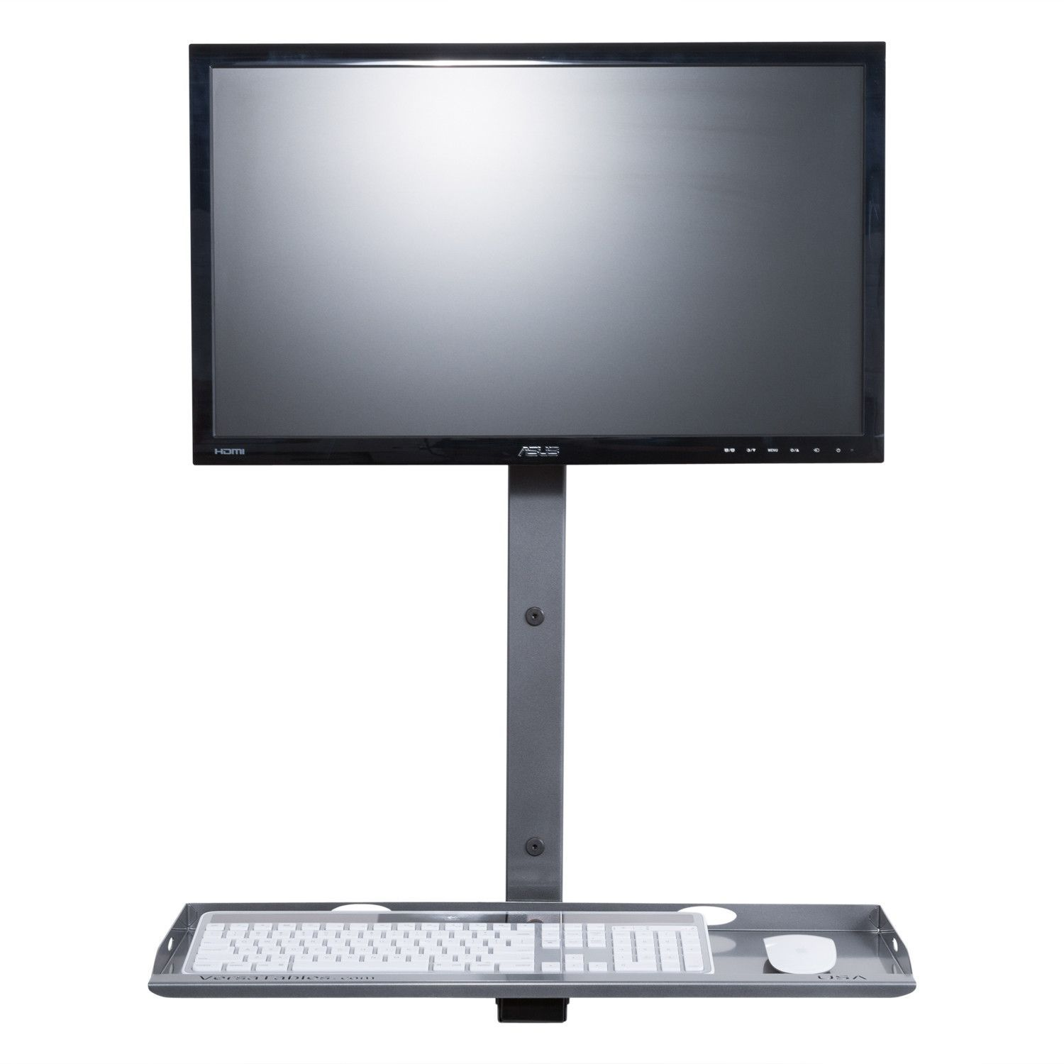 Single Monitor Basic Wall Mount Computer Station