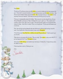 EzsantalettersCom  Santa Letter For Child With A New Baby In