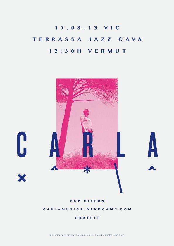 CARLA | Posters by Ingrid Picanyol, via Behance