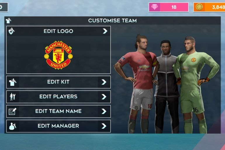 Manchester Unitd 2019 20 Kits For Dls 20 In 2020 Manchester United Logo Manchester Team Names