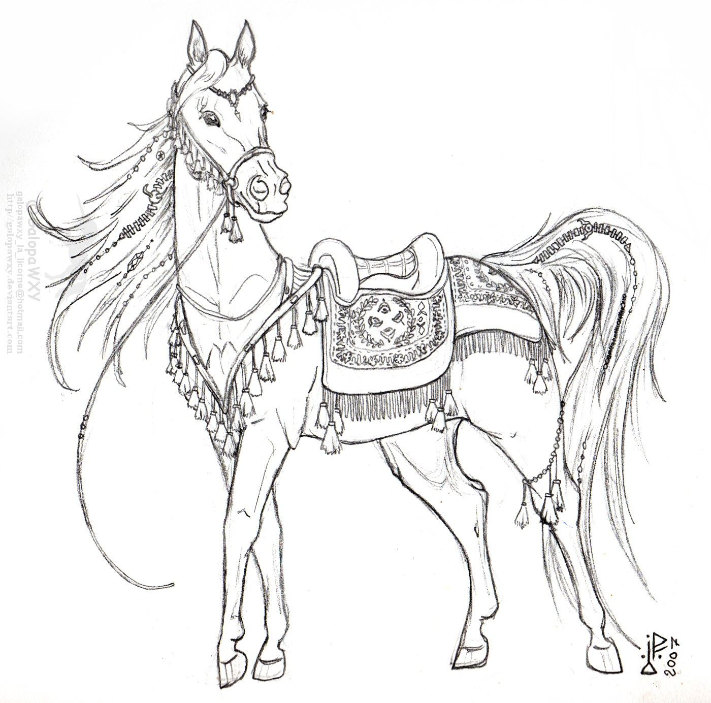 arab_mare_in_ceremonial_tack_by_galopawxy.jpg 1,400×1,384 ...