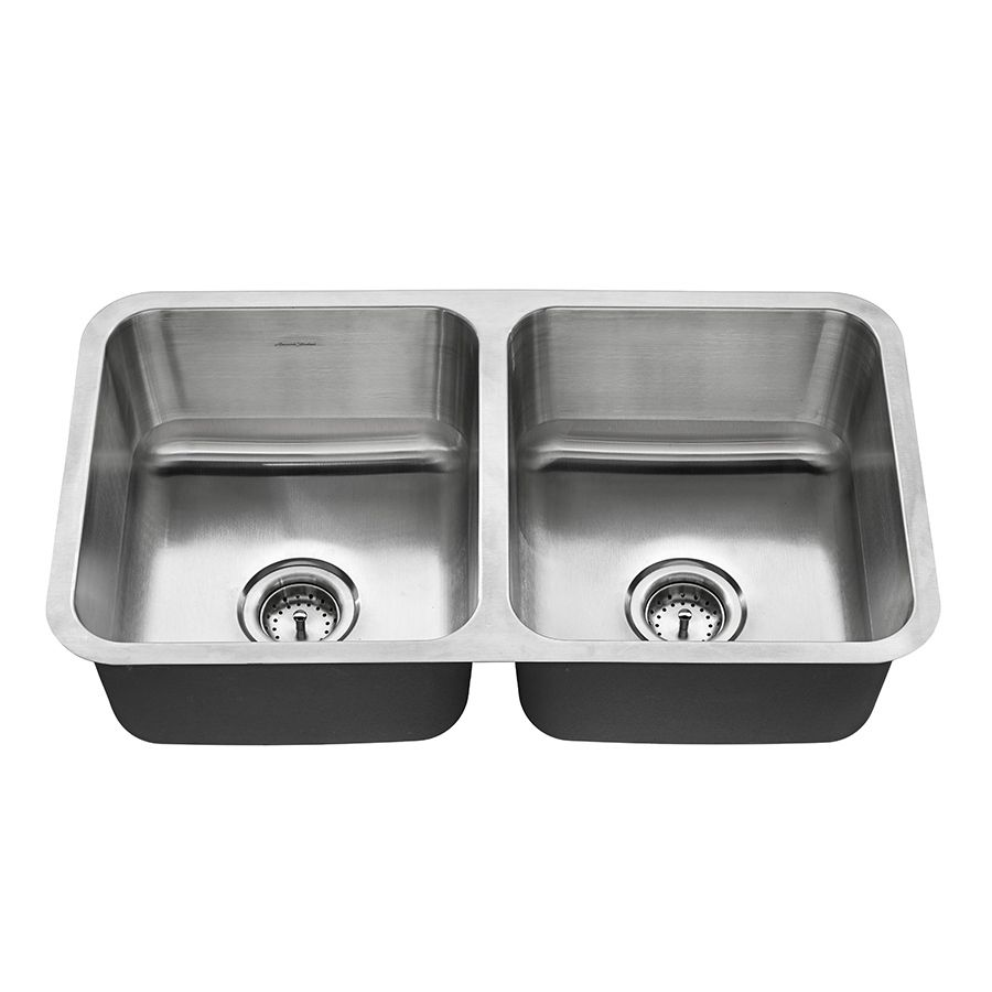American Standard Danville 32-in x 18-in Double-Basin Stainless ...