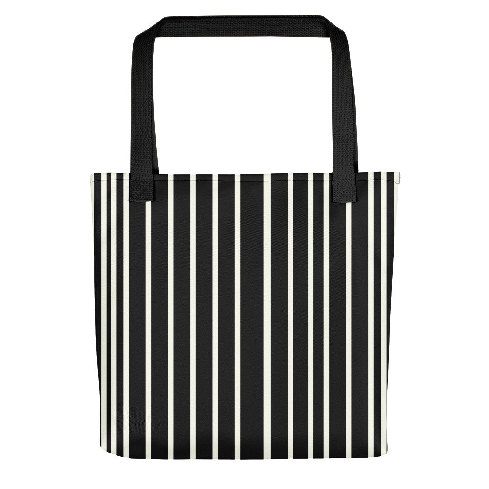 Only Black Off White Stripes Tote Bag Colorful Tote Bag Xantiago Colorful Tote Bags Tote Bag Purse Striped Tote Bags