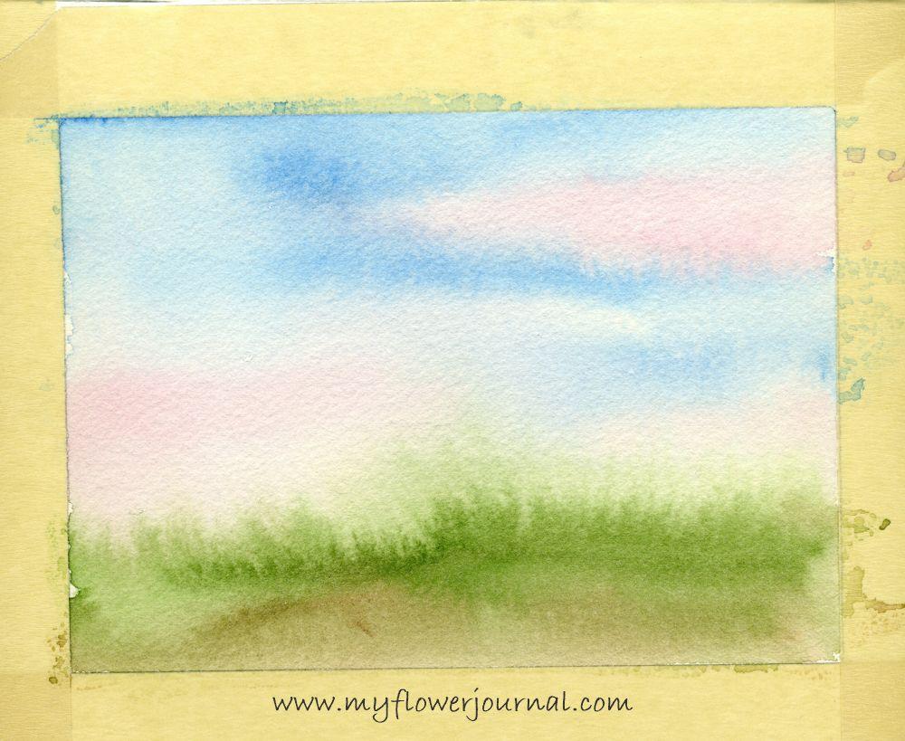 Create A Splattered Paint Flower Garden Poppy Field Painting