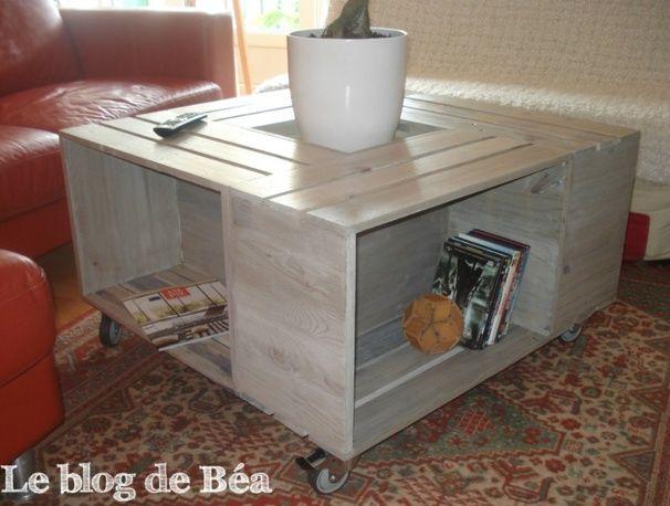 Tutoriels Tables Basses Cagettes En Bois Table Basse Bar Table Basse Table Basse Style Scandinave
