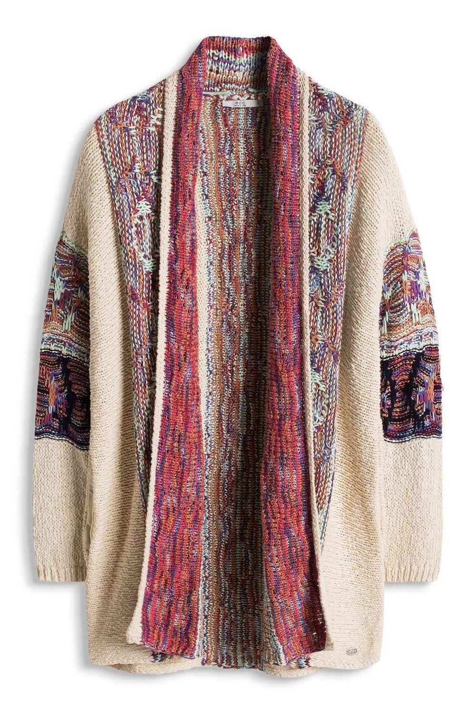 unos dias elegante y elegante descuento de venta caliente edc by ESPRIT im Hippie Look - chaqueta punto Mujer, Blanco ...