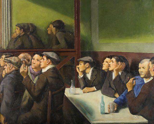Francesc Domingo, Espectadors, 1934, MNAC. Museu Nacional d'Art de Catalunya, Barcelona.