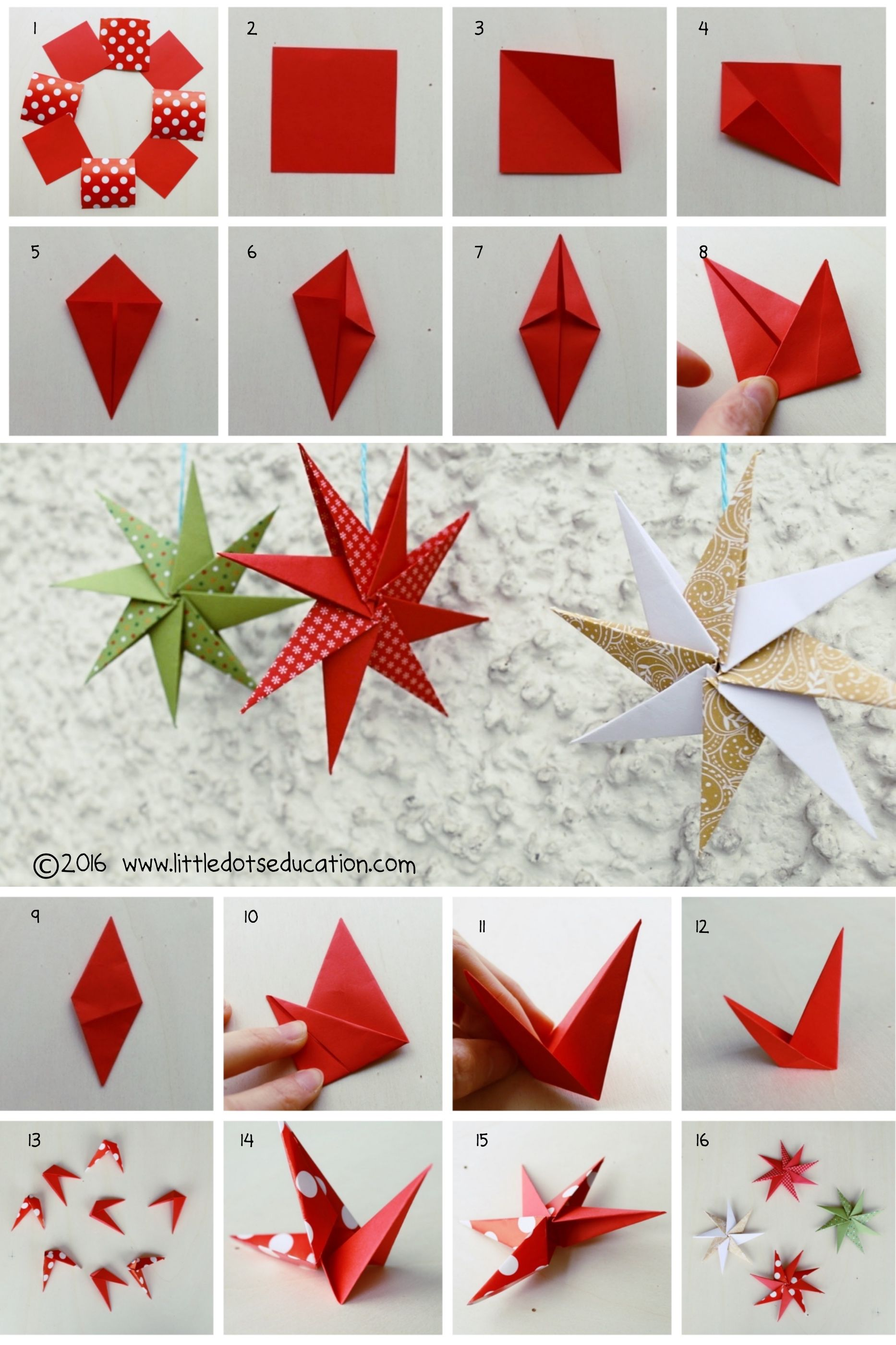 Paper Stars Origami Craft Origami Crafts Crafts Christmas