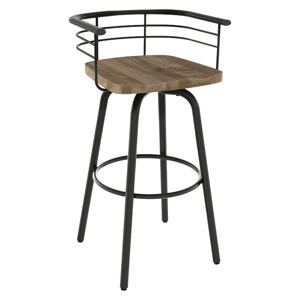 Brisk Swivel 26 Quot Counter Stool Black Brown Amisco