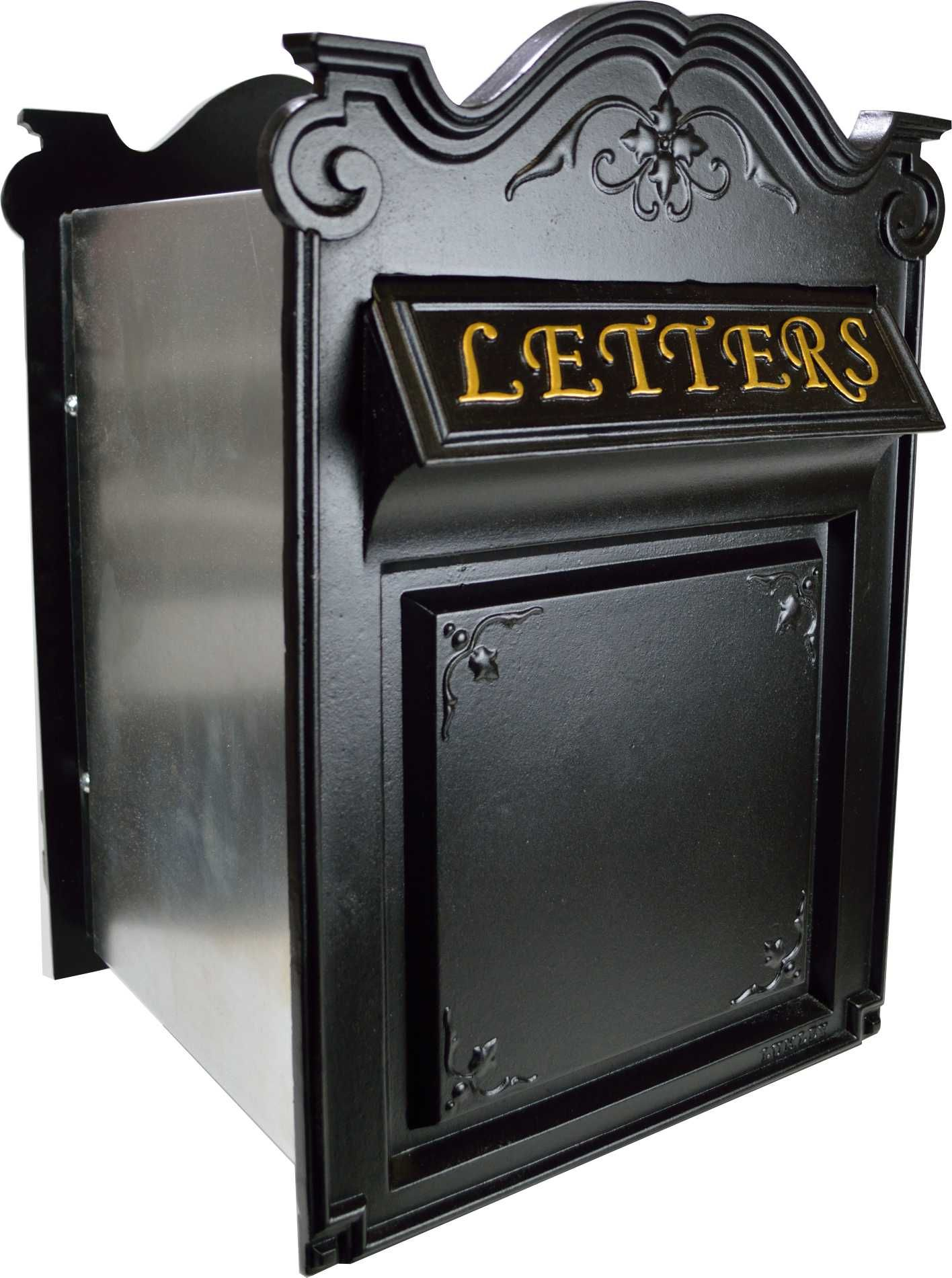 The Churchill Postbox This Has A Telescopic Adjustable Center Section For Installing Into A Brick Wall Wwwluml Letter Box Black French Provincial Old Mailbox