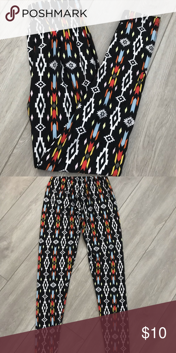 de6fd6ca04 Soft Leggings Super Soft high waisted Aztec design leggings. NWOT Pants  Leggings