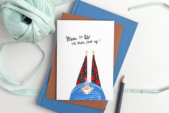 Mum to Be Card - New baby card, Expectant Mum Card