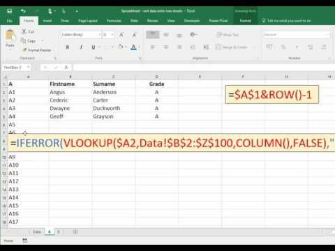 Spreadsheets How to Sort Data Onto Sub Sheets based on values in a