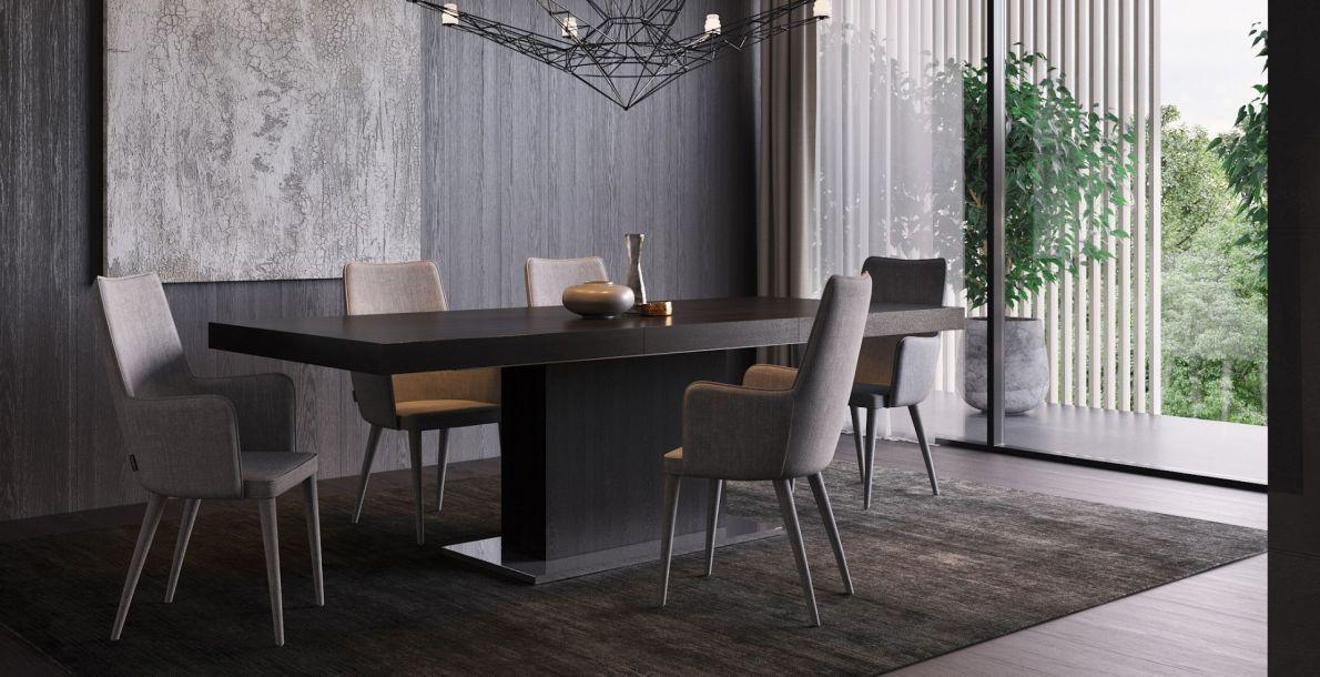 Palerma Extendable Dining Table Black Oak Dining Table Black