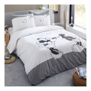 gt linge de lit gt parure de couette mickey amp minnie flanel d co pinterest parure de. Black Bedroom Furniture Sets. Home Design Ideas