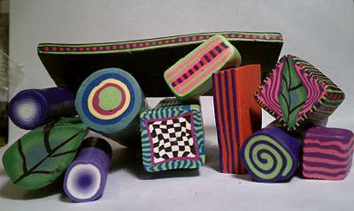 ARTIST PORTFOLIO - Gemma Flavin  -polymer clay canes