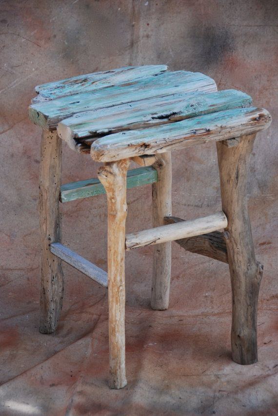 Driftwood table - small driftwood table, foot stool or stand ...