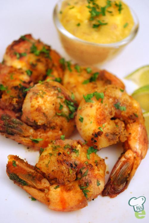 Grilled Shrimp with Mango Salsa Recipe Video : Here's a healthy recipe for a delicious grilled shrimp meal. Refreshing mango salsa makes a healthy dip for this easy seafood recipe.