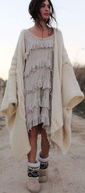 65 Trendy fashion winter boho chic shoes – wrap dresses, tops and skirts