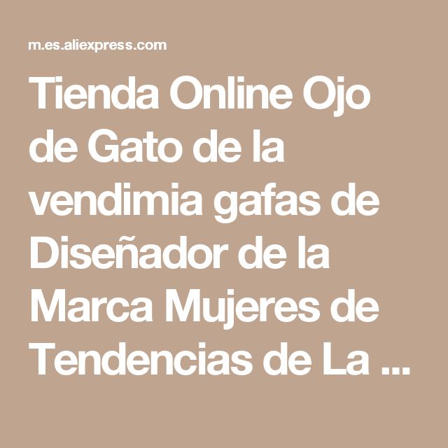 Tienda Online Ojo de Gato de la vendimia gafas de Diseñador de la ...