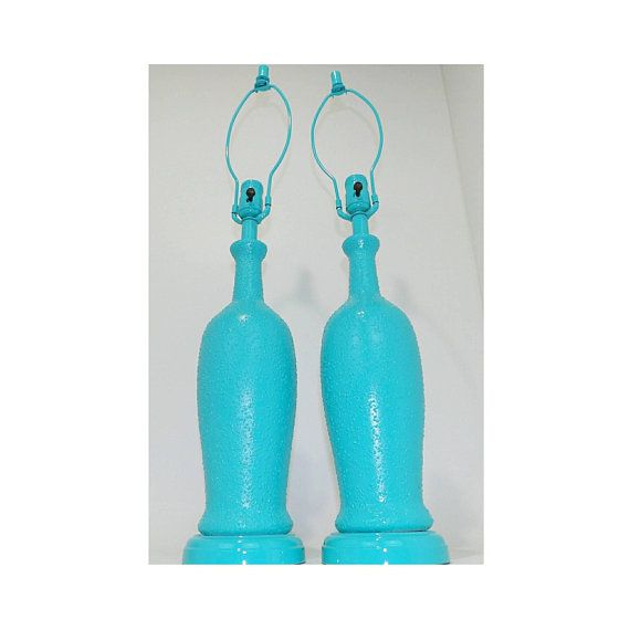 Best Pair Of Lamps Set Of 2 Monumental Mid Century Modern Aqua 640 x 480