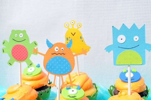 monsters on sticks in pots