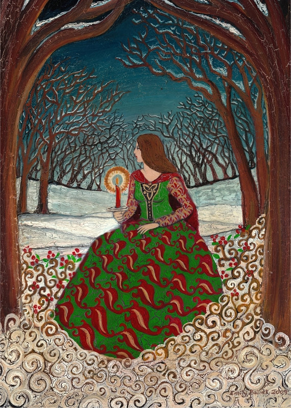 Solstice queen 5x7 greeting card fine art print pagan mythology solstice queen winter pagan goddess 5x7 greeting by emilybalivet m4hsunfo