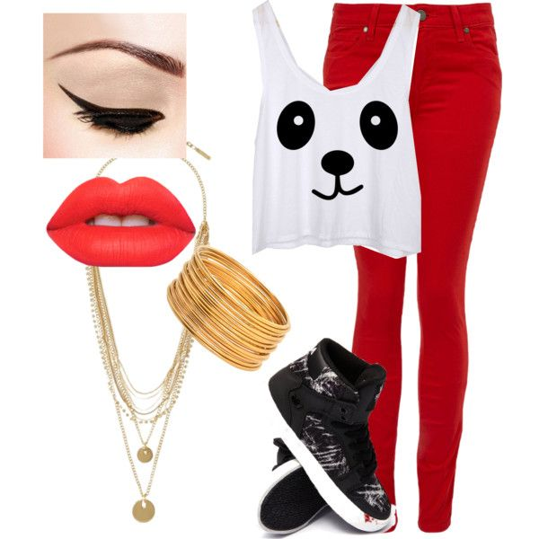surprise dance by shaylion on Polyvore featuring polyvore fashion style Paige Denim Supra Vince Camuto Lime Crime