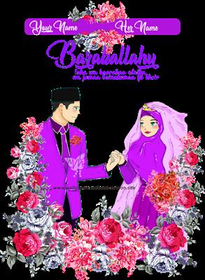 3 Wallpaper Wedding Muslim Muslimah Cartoon HD Undangan