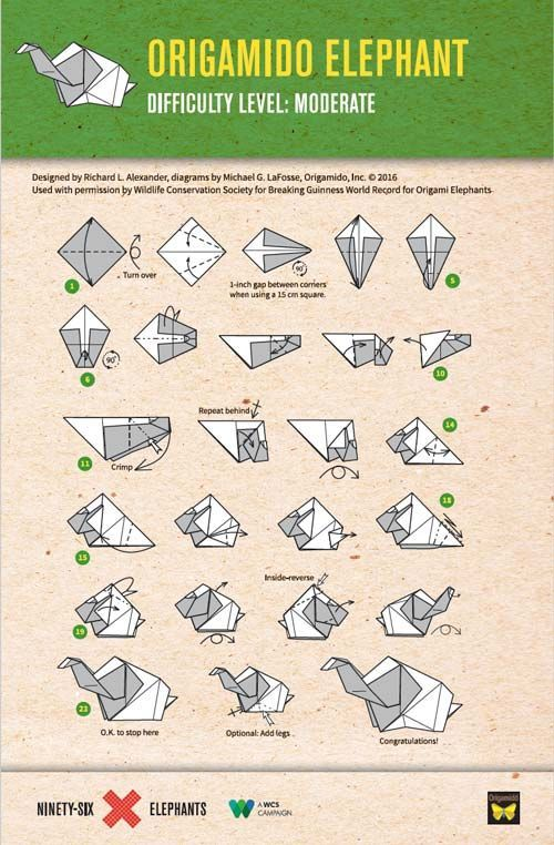 Elephant Origami Folding Instructions