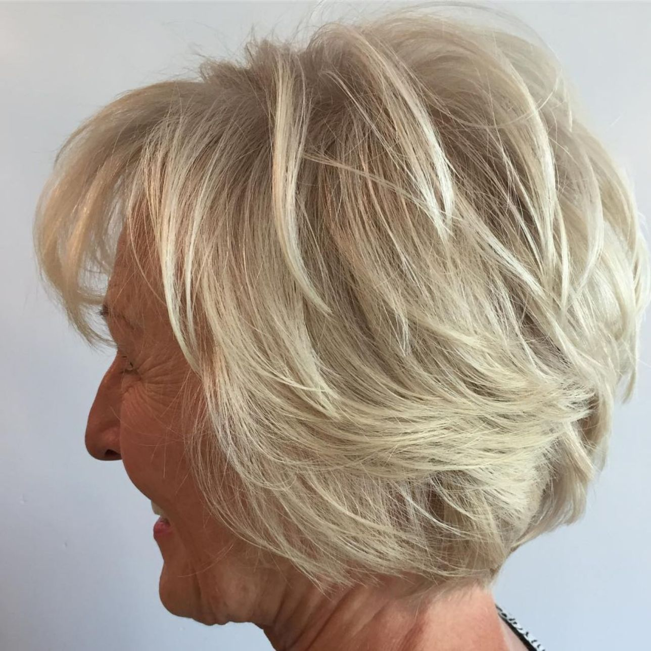 Over Short Hairstyle With Bangs In 2021 Short Hair With Layers Cool Hairstyles Thick Hair Styles