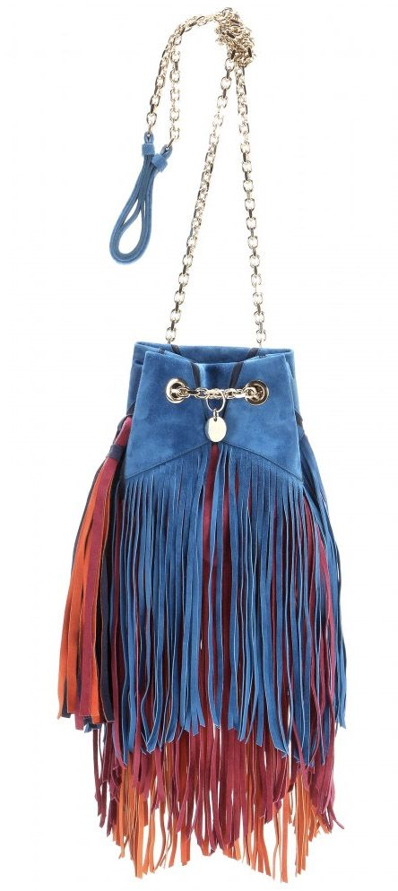 af1aafee47fe Color Burst  Roger Vivier Prismick Fringed Bucket Bag