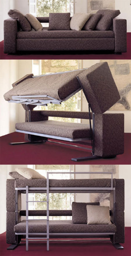 Transfurniture Couch Turns Into Bunk Bed.this would be