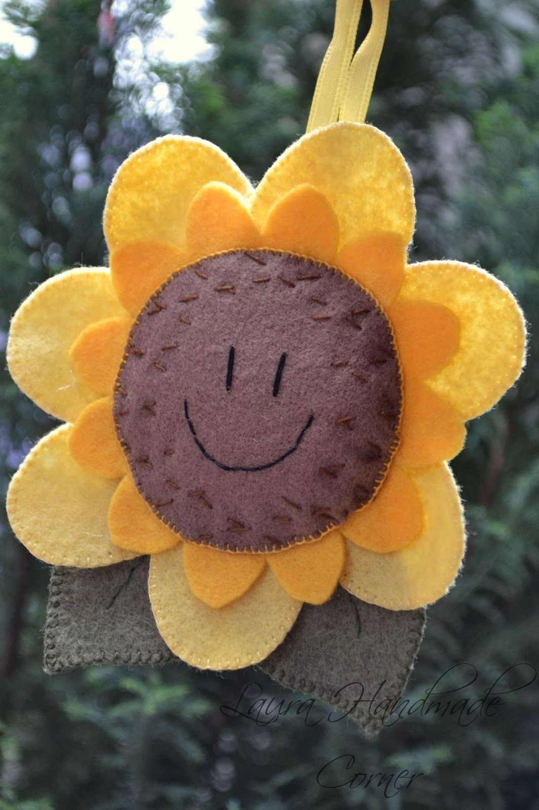 Felt sunflower artesanato pinterest sunflowers felting and