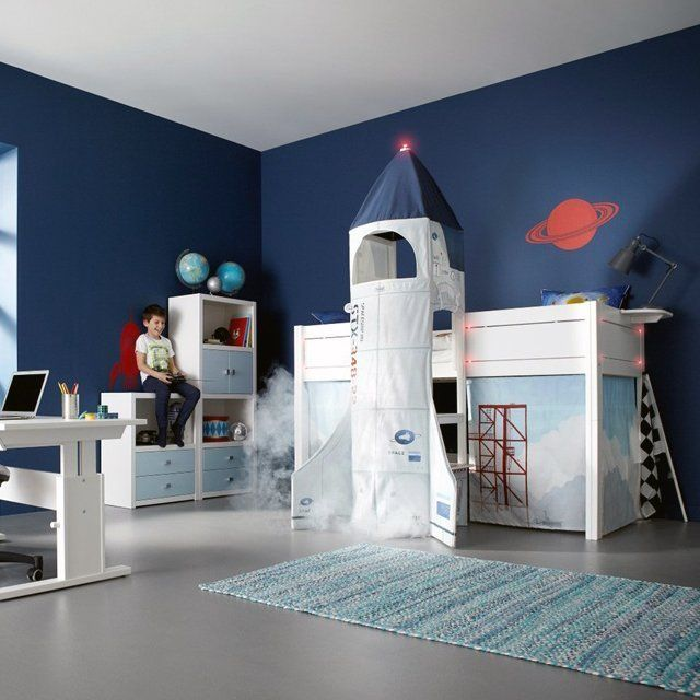 This Creative Kids Bed Comes Complete With E Ship Curtains To Cover Under The