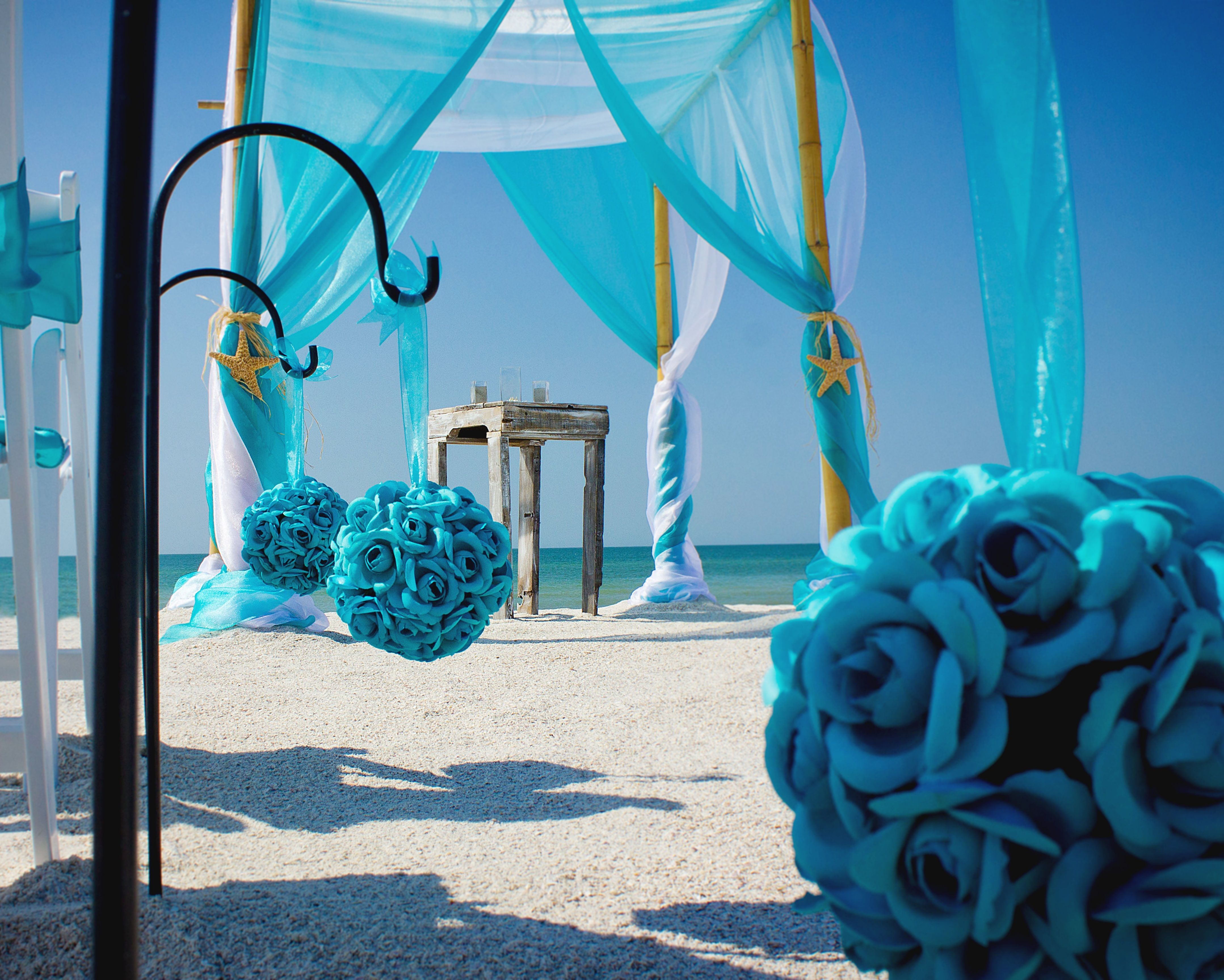 Wedding colors for a beach wedding  BeachWeddingColors  Florida Beach Wedding Packages  Best Florida
