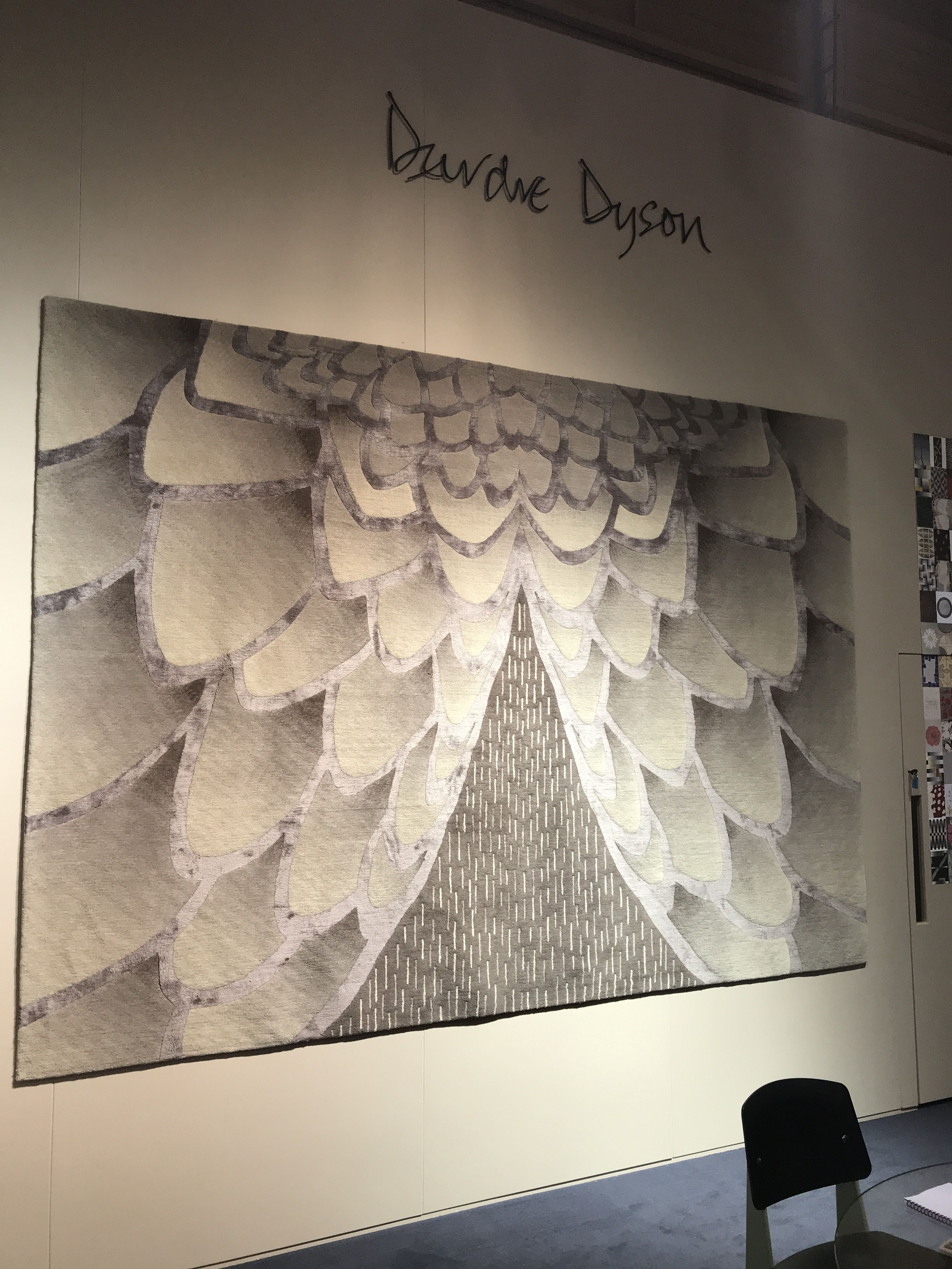 Eagle A Deirdre Dyson Hand Knotted Wool And Silk Rug On Display