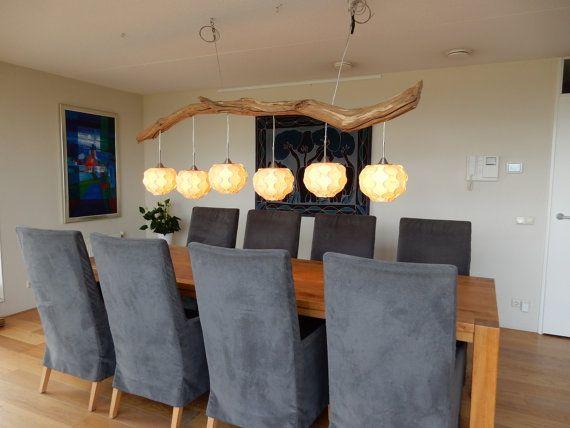 Venta l mpara de techo de madera vieja y 6 luces por - Venta de lamparas de techo ...