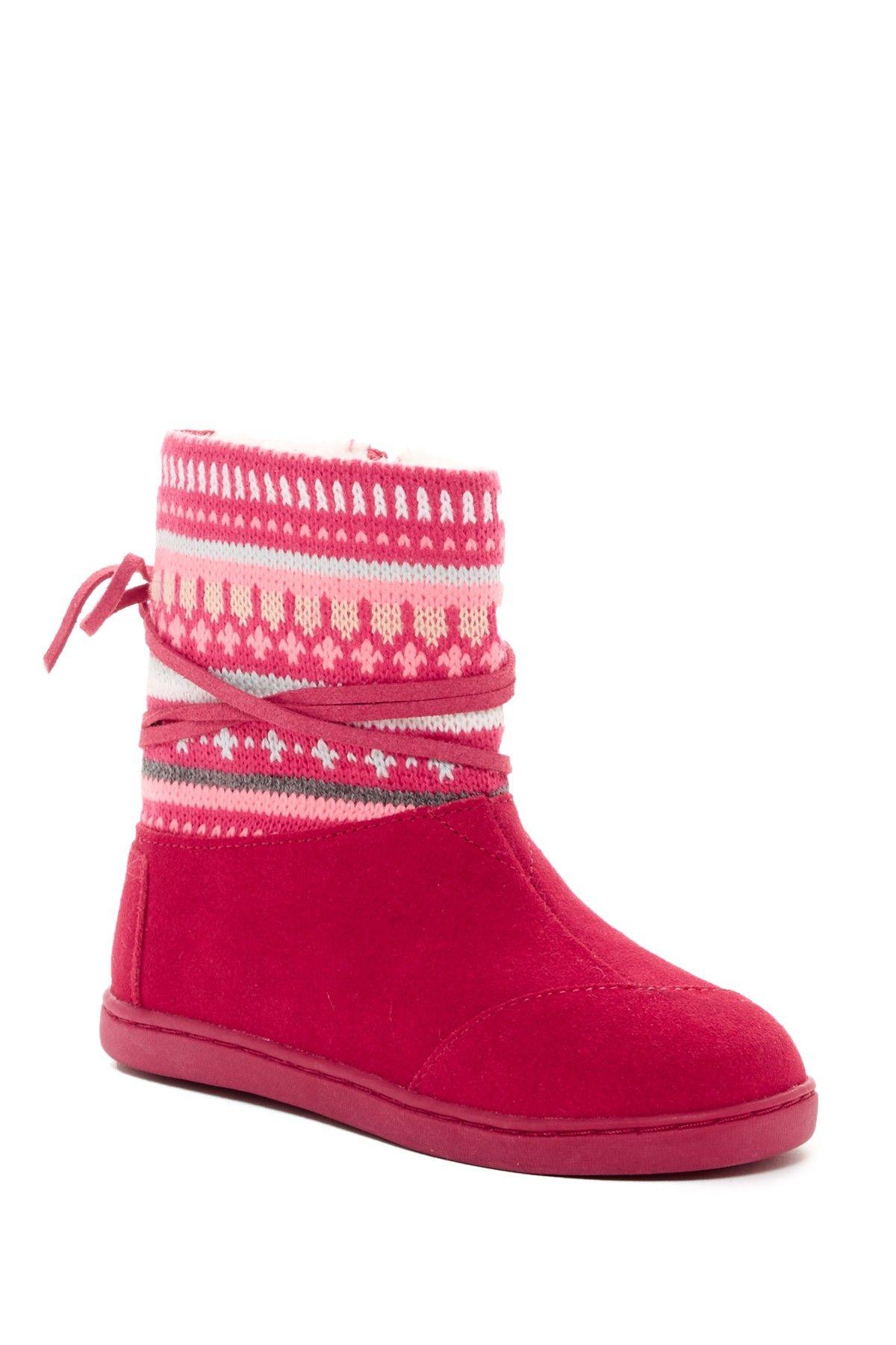 0b788b544bb Fair Isle Faux Fur Lined Nepal Boot (Little Kid   Big Kid ...
