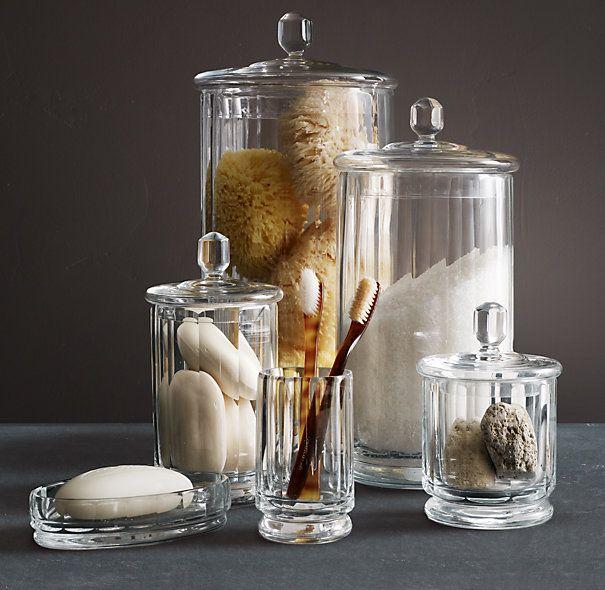 Faceted Glass Bath Accessories Glass Bathroom Bathroom Decor