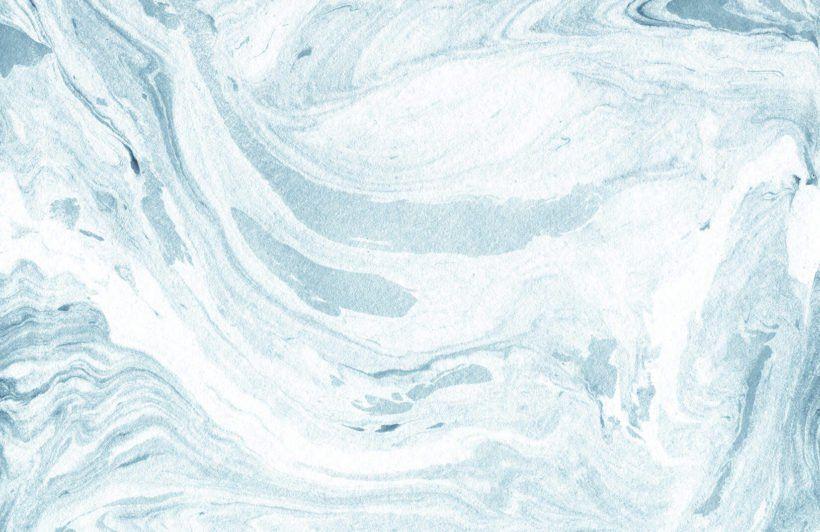 Blue And White Marbleized Wallpaper Mural Blue Marble Wallpaper
