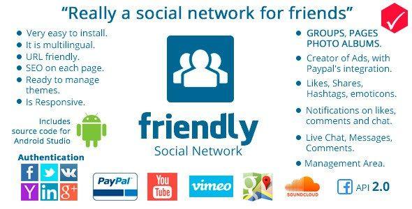 Download Friendly Social Network PHP Script