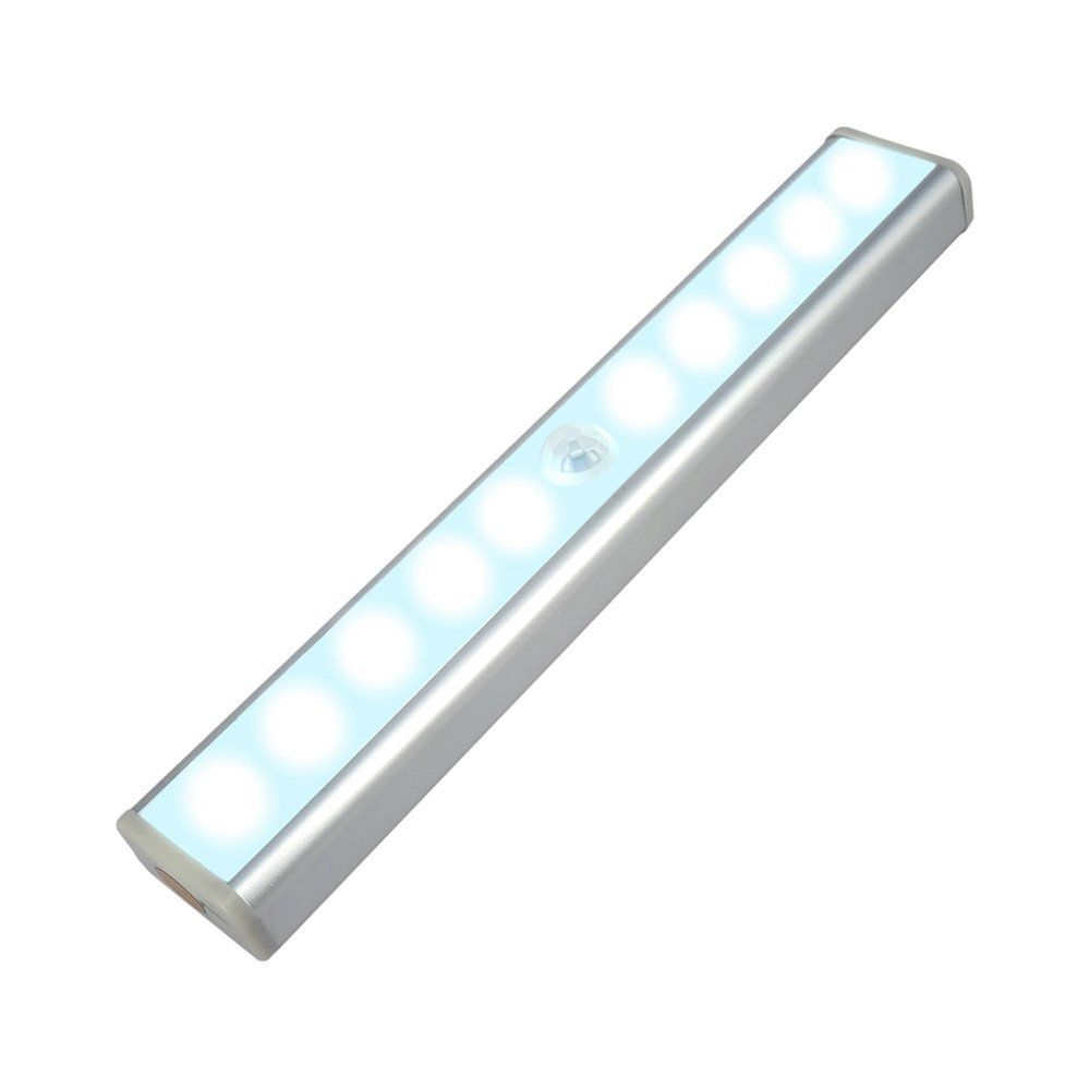 Lumand Wireless Motion Sensor Light Stick On Portable Usb Rechargeable 10 Led Closet Cabinet Led Night Light Motion Sensor Lights Diy Lighting Led Night Light
