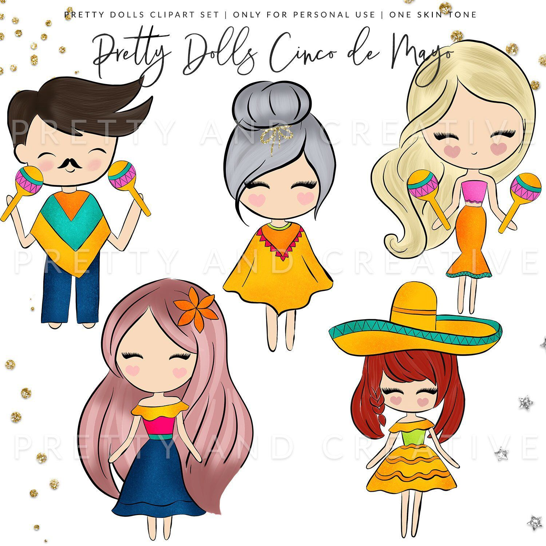 Pretty Dolls Cinco De Mayo Mexican Clipart Mexico Clipart Fiesta Clipart 5 De Mayo Maracas Clipart Cinco De Ma Pretty Dolls Cute Drawings Digital Sticker