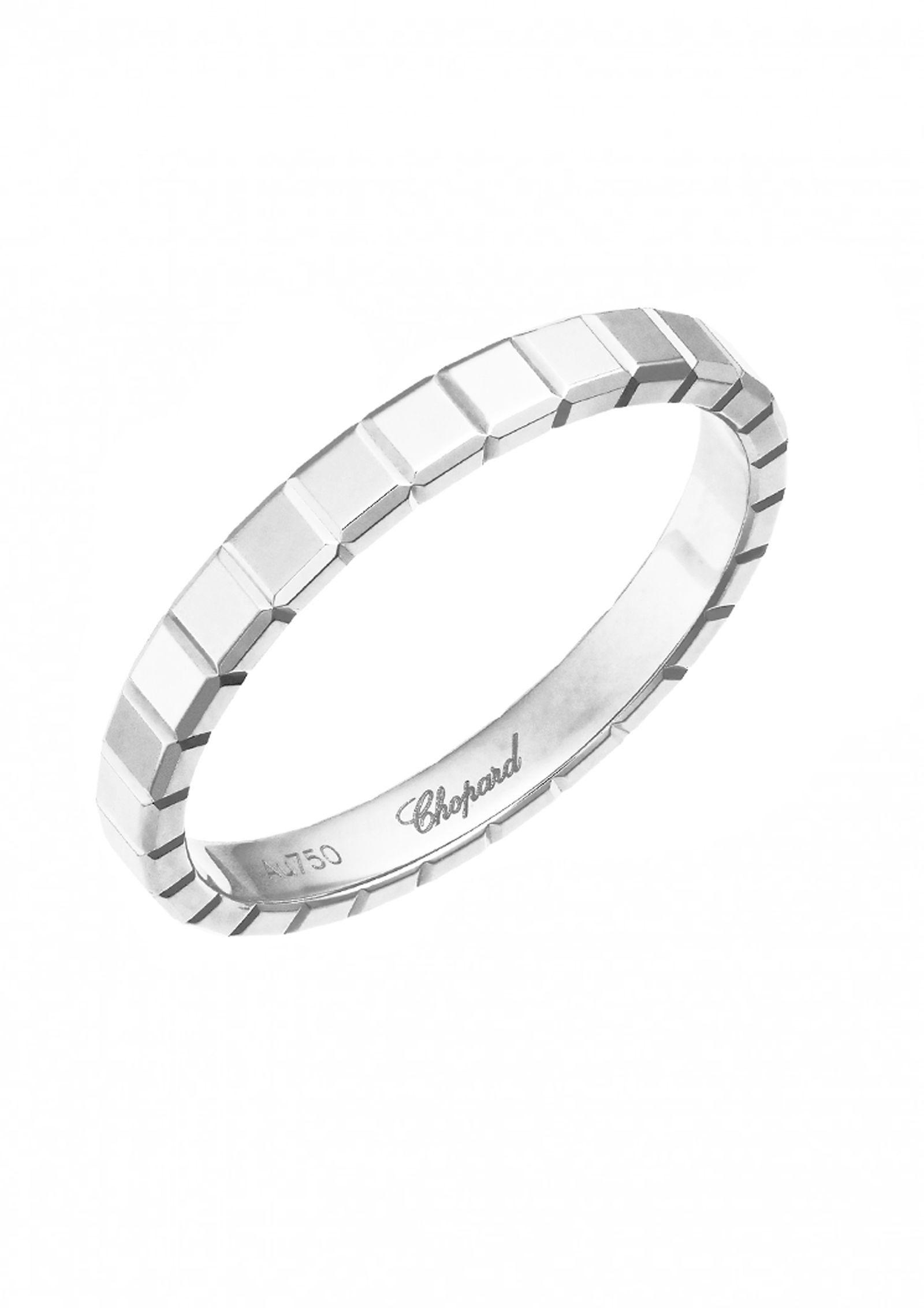Chopard Ice Cube Mini Diamond Ring in 18K White Gold, Size 53