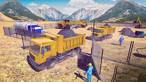 Excavator digging Road construction simulator 3D for