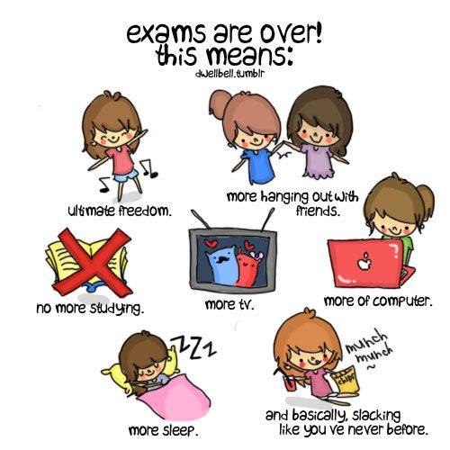 EXAMS ARE OVER! YEY WE DID IT! Let me know when you are ...