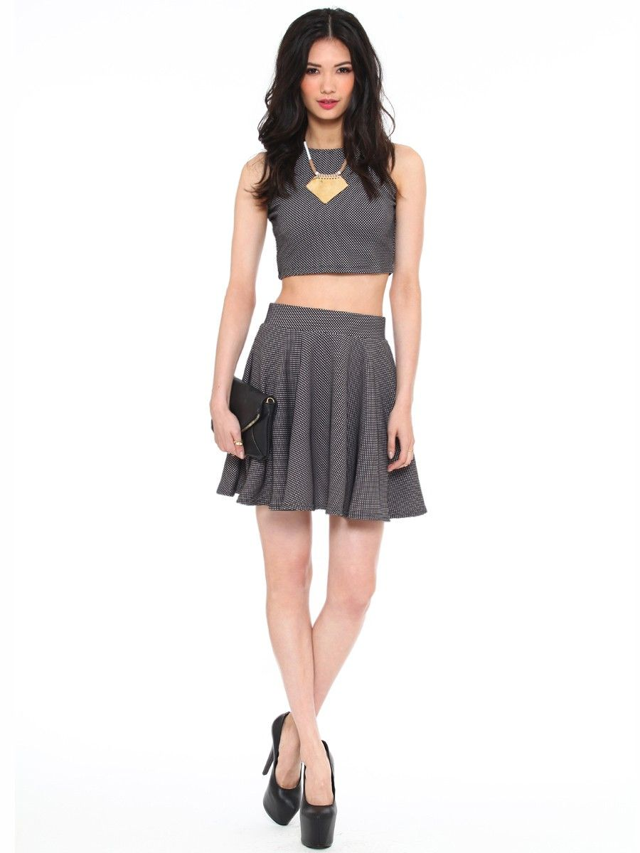 9b5f808fe0 ON THE DOT SKATER SKIRT Gypsy Warrior, Skater Skirt, Two Piece Skirt Set,